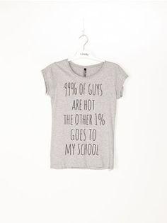 99 OF GUYS ARE HOT THE OTHER 1 GOES TO MY SCHOOL #sinsay czemu nie robili takich kiedy chodziłam do szkoły? xD