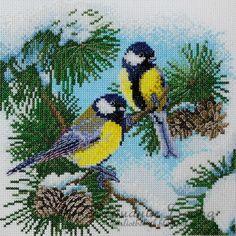 Gallery.ru / Фото #11 - Марья Искусница и Машенька - bobrika Cross Stitch Kitchen, Cross Stitch Bird, Cross Stitch Animals, Counted Cross Stitch Kits, Cross Stitch Designs, Cross Stitching, Cross Stitch Embroidery, Embroidery Patterns, Cross Stitch Patterns