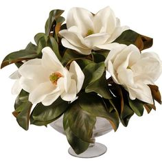 I pinned this Faux Magnolia Arrangement II from the French Country Accents event at Joss and Bring the beauty of bountiful country gardens and lush English estates to your home décor with this captivating faux floral arrangement. Main!