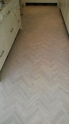 Client: Private Residence In West London Brief: To supply & install Amtico herringbone flooring to the area Kitchen Table Makeover, Luxury Vinyl Flooring, House Inspiration, Kitchen Flooring, Flooring, Interior, New Homes, Herringbone Floor, Outdoor Flooring