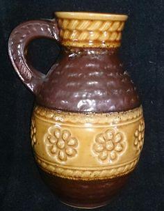 German Jug Candlesticks, Mason Jars, German, Pottery, Ceramics, Mugs, Retro, Tableware, Collection