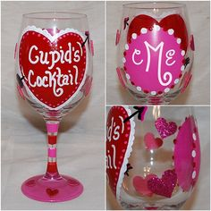 Cupid's Cocktail - Valentine Wine Glass