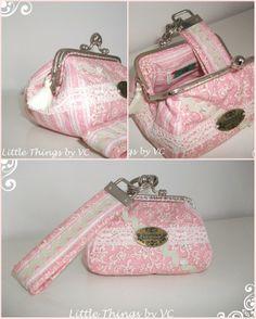 Conjunto: Porta-Moedas Vintage e Porta-chaves * Vintage purse * Porta-moedas com fecho d'avó de 10cm trabalhado e porta-chaves. Disponivel- available for purchase