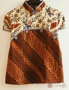 batik dress for baby