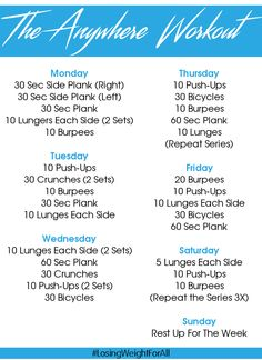 The Anywhere Workout, fitness