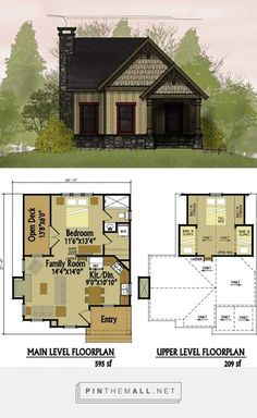 small cottage floor plan with loft