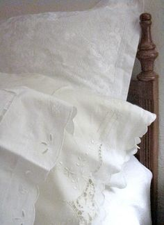 Nothing can outshine the beauty of fresh white vintage linens.