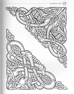 Celtic by Chris Down The Crafter's Design Library Viking Designs, Celtic Knot Designs, Viking Art, Viking Symbols, Celtic Tattoos, Viking Tattoos, Celtic Animals, Viking Pattern, Leather Tooling Patterns