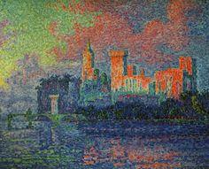 Paul Signac : Le Palais des Papes, Avignon, 1900 la scission de deux papautés  Paul Signac : il a passé beaucoup de son temps a la mer et alors)