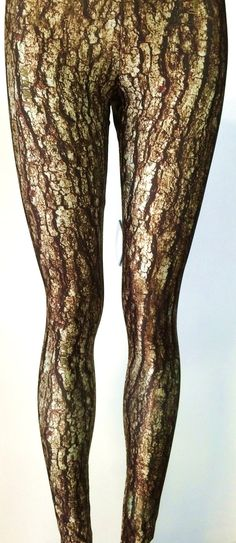 Soul Trend Womens Leggings/Tights/Printed Nylon Spandex/Untimate Camo Brown Tree Trunk Pattern Size 8, 10, 12, 14, 16 New op Etsy, 27,74€
