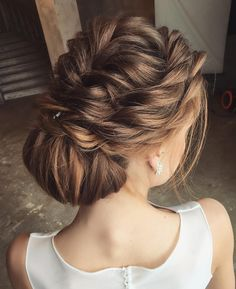 The Pretty Braided Updo Wedding Hairstyle To Inspire You Braided Hairstyles For Wedding, Braided Updo, Up Hairstyles, Pretty Hairstyles, Wedding Hair And Makeup, Wedding Updo, Updo Styles, Hair Styles, Bridal Hair Inspiration