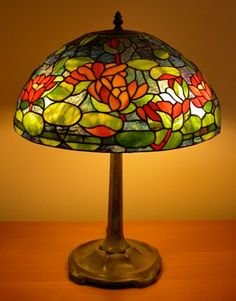 Image detail for -Water Lily Tiffany Lamp