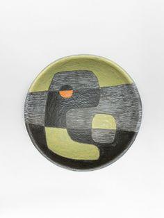 André Aleth Masson; Glazed Ceramic Dish, 1957.