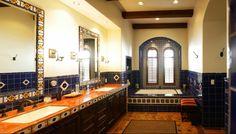 Talavera Tile Bathroom Counter | Paint + Pattern
