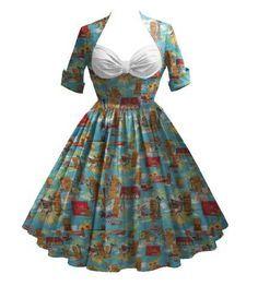 Rockabilly dress design from BlueBerryHillFashions.com