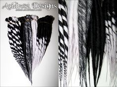 Monochromatic dreads are some of my favourite! ♥  See more #AcidroseDesigns #synthetic #dreads @ www.facebook.com/acidrosedesigns