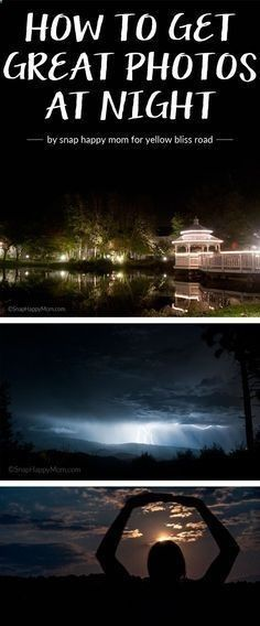 Better Pictures - I love night photos but they are so hard to get awesome shots. Here Is How to Get Great Photos at Night. Fantastic photography tips! To anybody wanting to take better photographs today