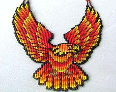 Águila de collar, águila de Fuego, espíritu Animal, collar de águila de fuego de la semilla