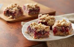 Peanutty Cranberry Bars