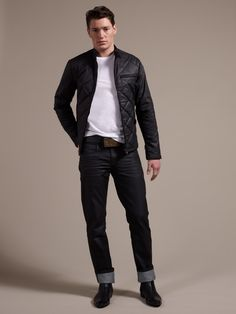 Joe+Casely-Hayford+for+John+Lewis+Quilted+Biker+Jacket,+£225,+and+Pique+Crew+White+£28+at+John+Lewis.jpg (1200×1600)