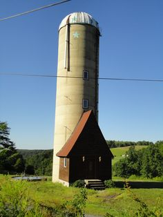 Amazing silo that has been converted into a house in rural central PA! This is the cutest thing ever.