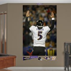 Joe Flacco Playoff Touchdown Celebration Mural, Baltimore Ravens