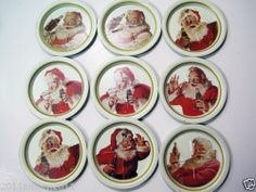 RARE Collectible Coca Cola Coke Christmas Santa Coaster Set Lot Gift Bottle   eBay