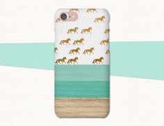 Wood, Green, and Gold Horse Patterned phone case by Atlantek Designs. Shop on Etsy! | Designed by Purple Horse Designs