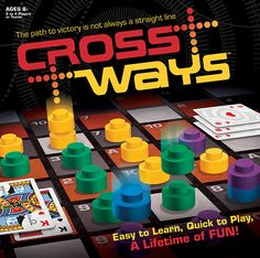 CrossWays – The path to victory is not always a straight line. CrossWays is the board game of playing cards, placing markers, and making paths across the board.