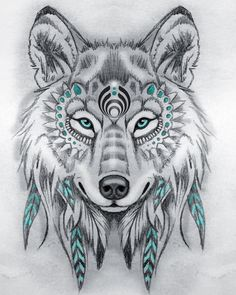 Wolf Tattoos 30987 tribal wolf drawing in pencils, black and white drawing model with touches of blue, Native American symbol Wolf Tattoo Design, Tattoo Designs, Tattoo Wolf, Design Tattoos, Wolf And Moon Tattoo, Howling Wolf Tattoo, Tribal Wolf Tattoo, Wolf Design, Tattoo Ideas