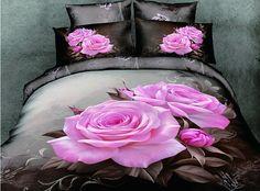 cama negra y rosa