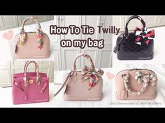 Tie Twilly Scarf On a Bag Handle - YouTube