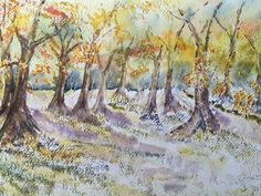 Watercolour Trees - By Bazza
