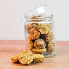 These Pumpkin Pie Dog Treats are perfect for fall.