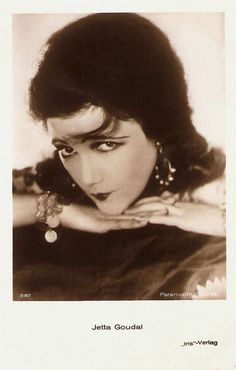 Jetta Goudal / Queen of Hollywood pose/ Queen of the wonderful, crazy hats. Always great eye makeup