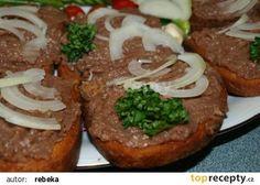 Tatarák recept - TopRecepty.cz Baked Potato, Potatoes, Baking, Ethnic Recipes, Potato, Bakken, Backen, Baked Potatoes, Oven Potatoes