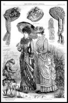 https://flic.kr/p/9rotm2 | 1881 Vintage Fashion Plates - The Young Ladies Journal No.31