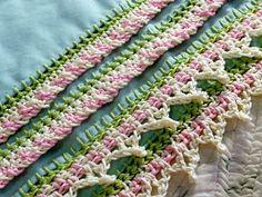pretty decorative crochet border!