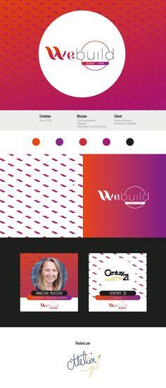 Création de l'identité visuelle de l'évènement #WeBuild organisé par le réseau d'entrepreneures au féminin Womum.  . #graphisme #logo #graphiste #identitevisuelle #logotype #web #evenement #motif #creationgraphique