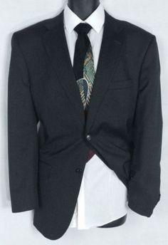 JOSEPH & FEISS Size 44R Wool Suit | Dark Gray Jacket | Free Albert Nipon Tie EUC