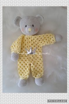 Crochet Dolls Crochet Baby Knitting Gifts Ideas Baby Things Crocheted Animals Baby Going Home Outfit Tricot Diy Crochet Toys, Crochet Lovey, Crochet Teddy, Crochet Bunny, Crochet Gifts, Cute Crochet, Baby Blanket Crochet, Crochet Dolls, Crocheted Toys