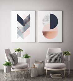Geometric Harmony Canvas set of 2 canvas prints will create a beautiful gallery wall decor in any home. It features geometric elements in different colour options like charcoal navy, blush, marble and copper like texture (NOT a foil print), blush and grey, grey, black & silver, teal green. Beautiful diptych for modern walls of any space like office, bedroom, living room, nursery etc. inspired by minimal Scandinavian design. Chic and modern housewarming gift. Elevate your space by creating a… Scandinavian Print, Design, Wall Art Prints, Geometric Poster, Minimalist Poster, Diptych, Canvas Set, Traditional Picture Frames, Geometric Print
