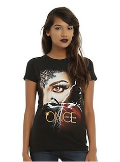"""""""The Evil Queen is inside me always trying to get out."""" - Regina // Once Upon A Time Regina Black Apple T-Shirt"""