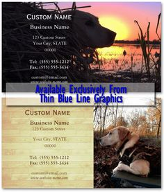 Thin Blue Line Graphics has been chosen as the exclusive vendor of a fantastic professional photography collection. Applied to these unique business cards these images capture the time honored sport of duck hunting. Also available as beautiful poster and amazing gallery quality wrapped canvas art.