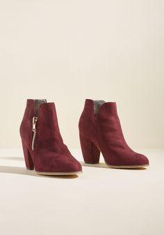 Perfect Form Block Heel Bootie, #ModCloth