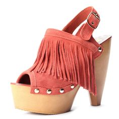 Orange Leather Tassel