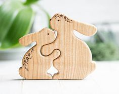 Your place to buy and sell all things handmade : Wooden Hare Puzzle. Montessori Toy for Baby and Toddler. Easter Gifts For Kids, Kids Gifts, Best Educational Toys, Wooden Rabbit, Wooden Elephant, Puzzles For Toddlers, Eco Friendly Toys, Waldorf Toys, Wooden Animals