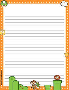 Mario Printable Coloring Pages, Invitations & Mario Crafts, Nerd Crafts, Super Mario Party, Super Mario Bros, Hama Beads Minecraft, Perler Beads, Sonia Maria, Art Hama, Free Printable Stationery