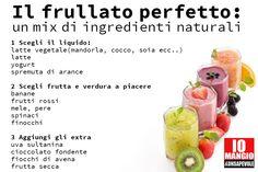 [MERENDE] il #frullato perfetto: il mix della salute  #frutta