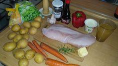 Pečená krůtí prsa na medu | Recept | Uvařsisám.cz Vegetables, Food, Red Peppers, Essen, Vegetable Recipes, Meals, Yemek, Veggies, Eten
